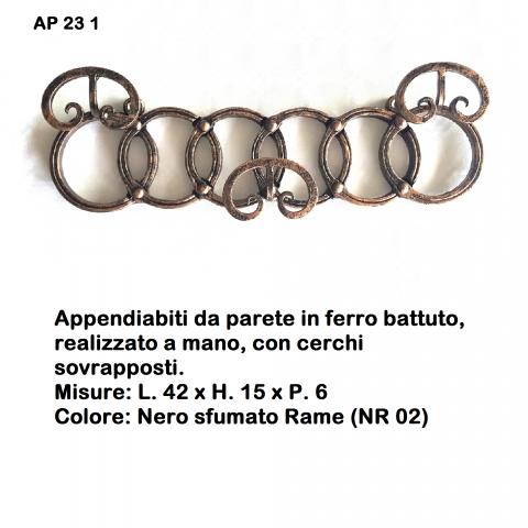 Appendiabiti in ferro battuto AP 23