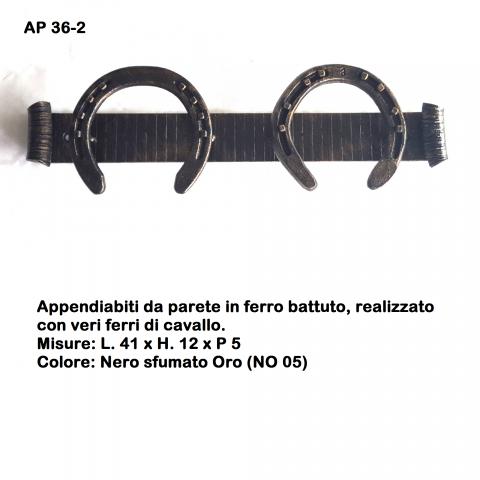 Appendiabiti in ferro battuto AP 36