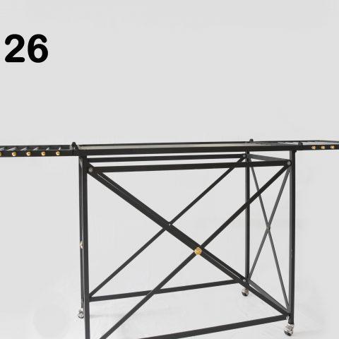 Stendino in ferro con barre d'acciaio CA 26