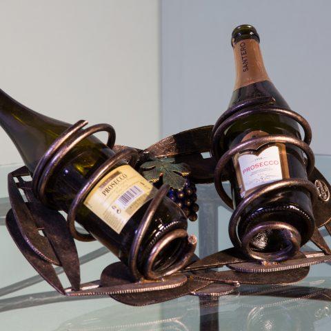 Porta bottiglie in ferro battuto CA 49