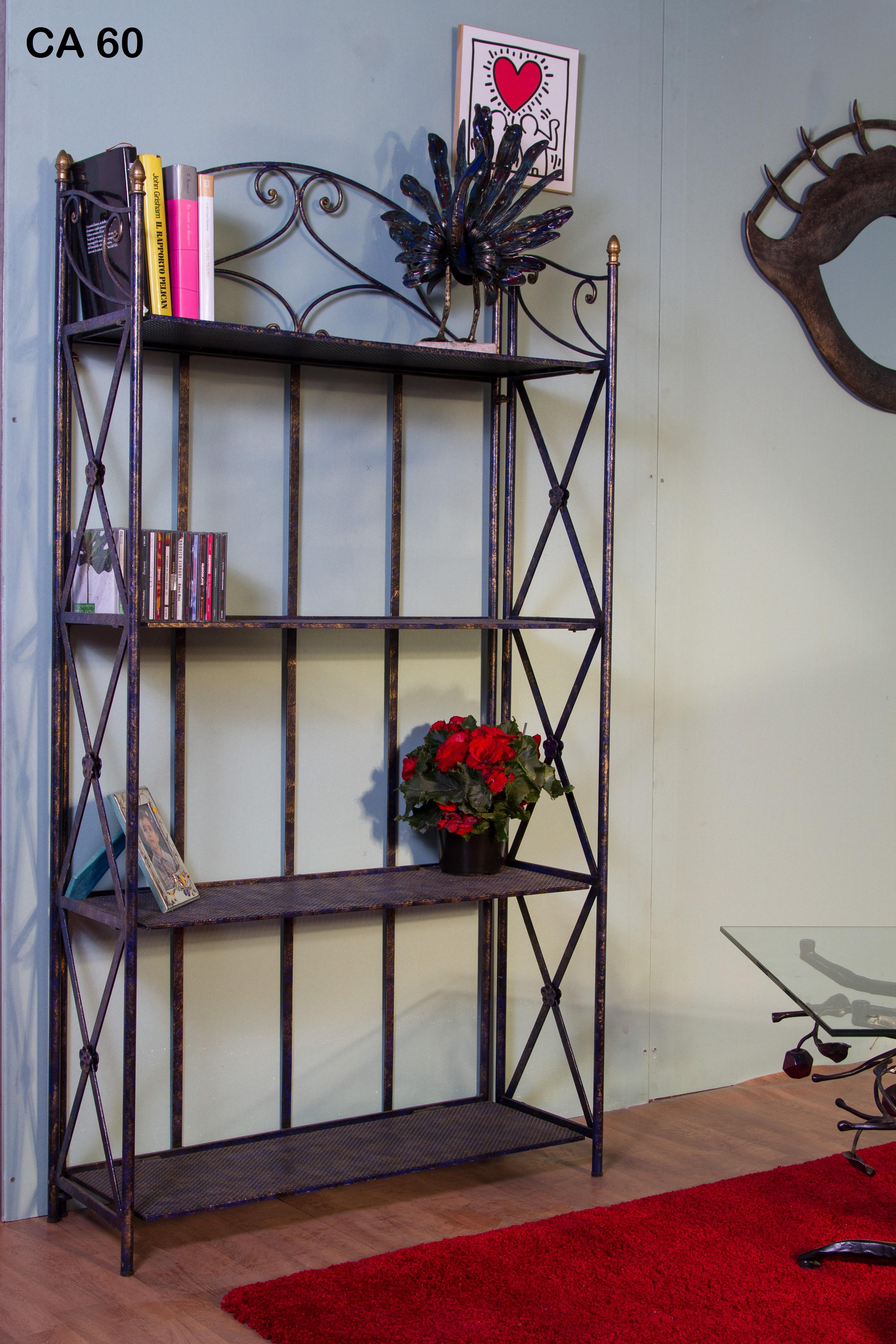 Libreria/Etagere in ferro battuto CA 60 - Iron Art | Lavorazione ...