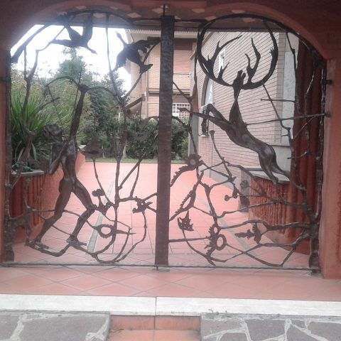 Cancello carrabile in ferro battuto CC 04