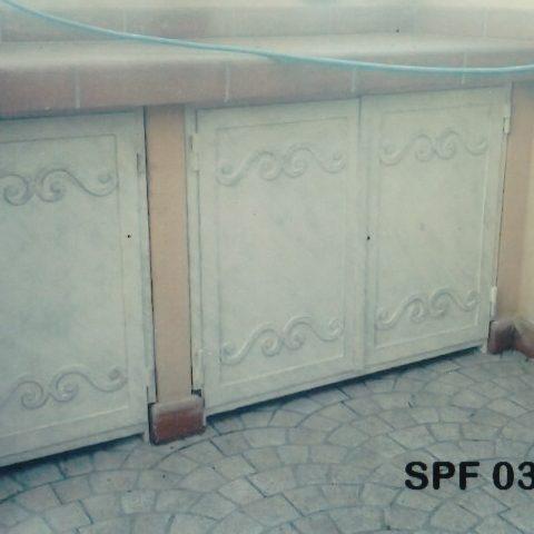 Sportello in ferro battuto SPF 03