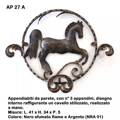 Appendiabiti in ferro battuto AP 27