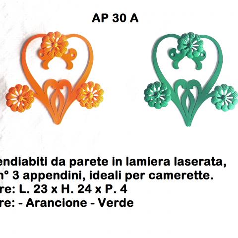 Appendiabiti in ferro battuto AP 30 A