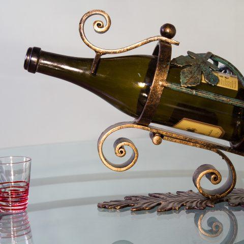 Porta bottiglie in ferro battuto CA 45
