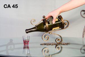 Porta bottiglie in ferro battuto