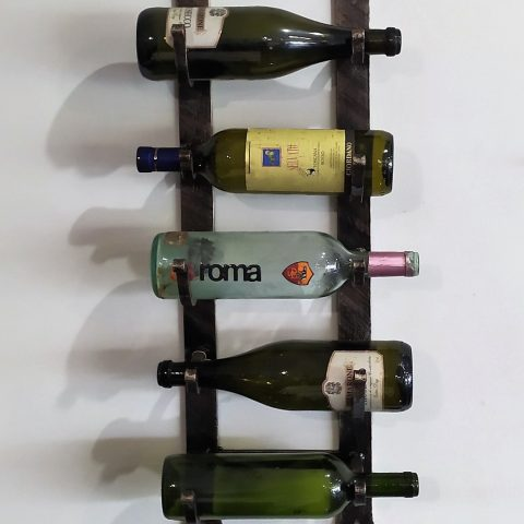 Porta bottiglie da parete in ferro battuto CA 46