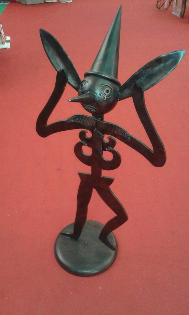 Pinocchio in ferro battuto