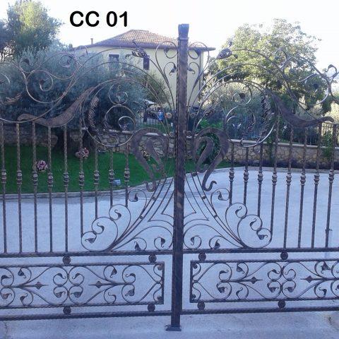 Cancello carrabile in ferro battuto CC 01