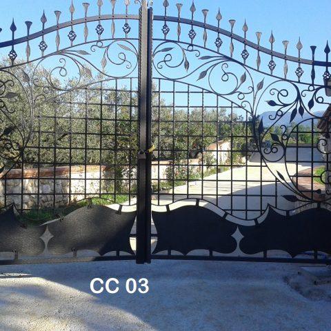 Cancello carrabile in ferro battuto CC 03