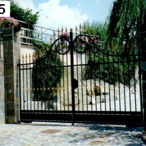 Cancello carrabile in ferro battuto CC 05