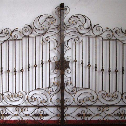 Cancello carrabile in ferro battuto CC 11