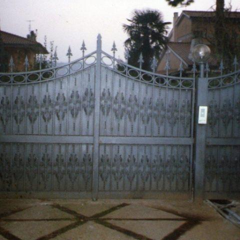 Cancello carrabile in ferro battuto CC 12