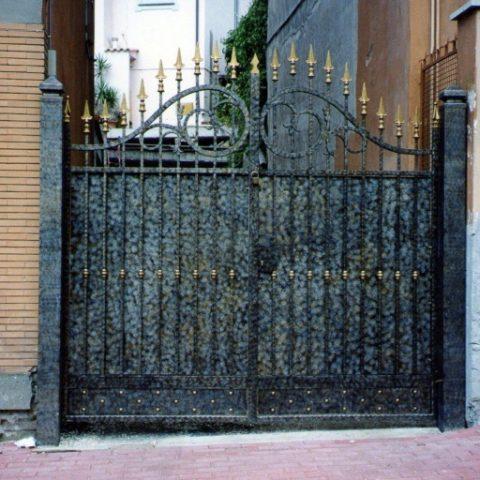 Cancello carrabile in ferro battuto CC 13