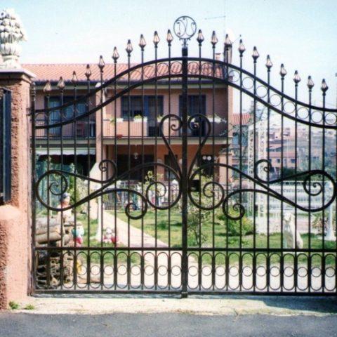 Cancello carrabile in ferro battuto CC 18
