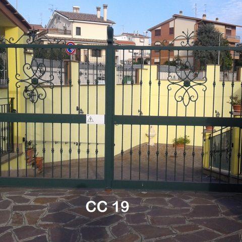 Cancello carrabile in ferro battuto CC 19