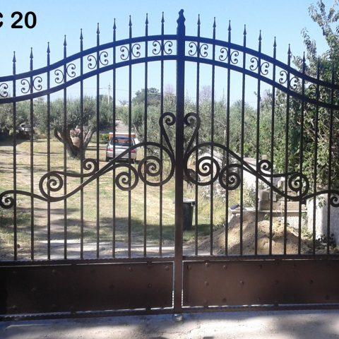 Cancello carrabile in ferro battuto CC 20