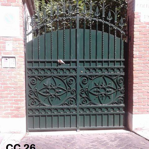 Cancello carrabile in ferro battuto CC 26