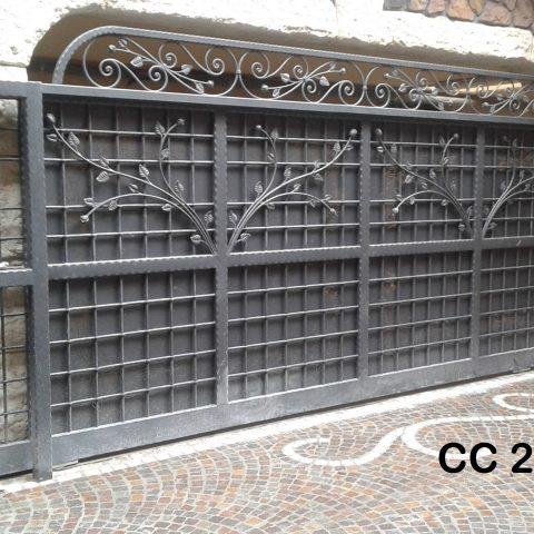Cancello carrabile in ferro battuto CC 28