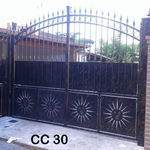 Cancello carrabile in ferro battuto CC 30