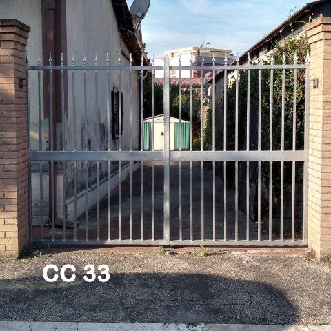 Cancello carrabile in ferro battuto CC 33