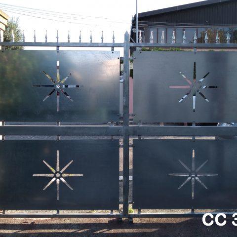 Cancello carrabile in ferro battuto CC 34