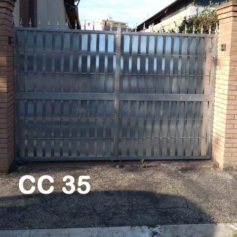 Cancello carrabile in ferro battuto CC 35