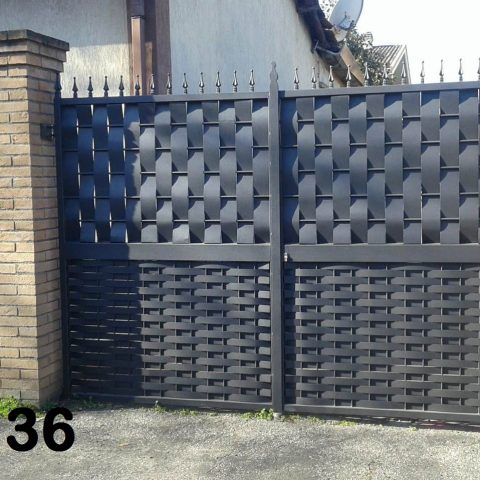 Cancello carrabile in ferro battuto CC 36