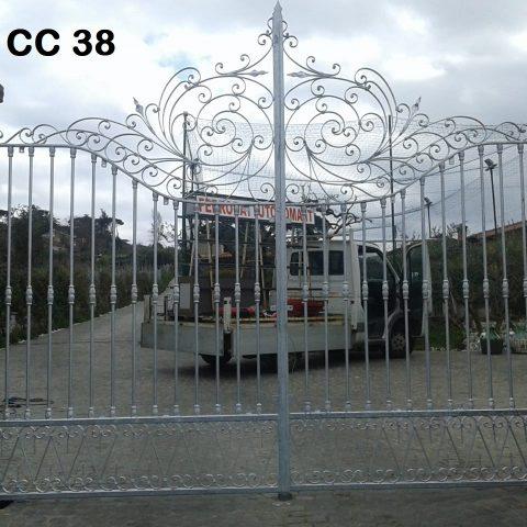 Cancello carrabile in ferro battuto CC 38