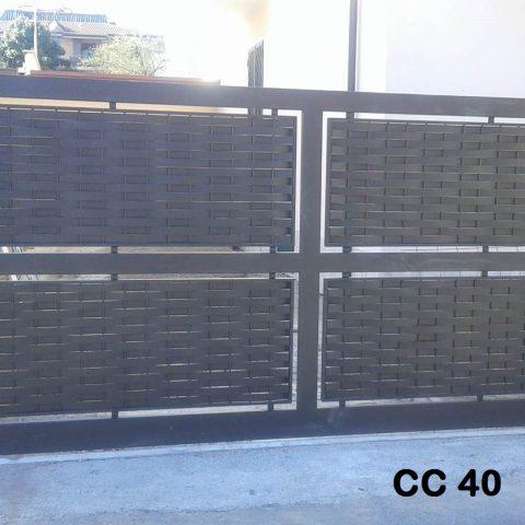 Cancello carrabile in ferro battuto CC 40
