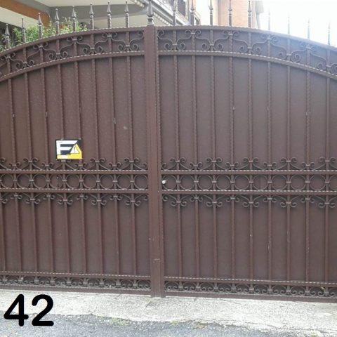 Cancello carrabile in ferro battuto CC 42