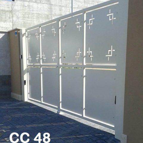 Cancello carrabile in ferro battuto CC 48