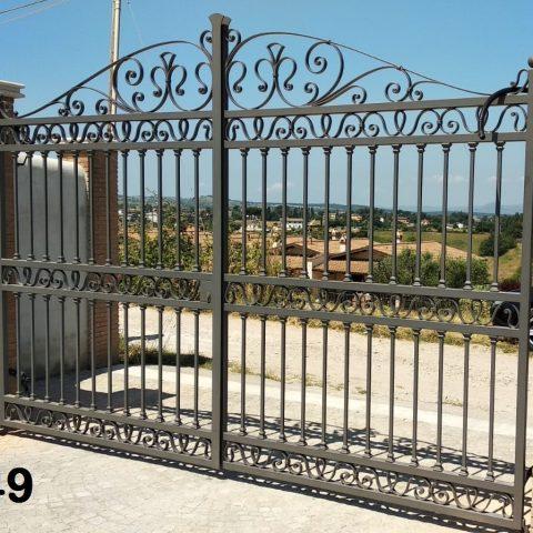 Cancello carrabile in ferro battuto CC 49