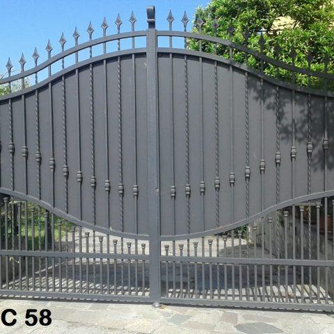 Cancello carrabile in ferro battuto CC 58