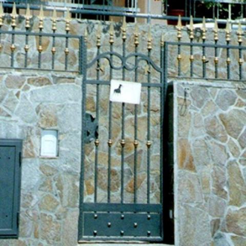 Cancello pedonale in ferro battuto CP 02