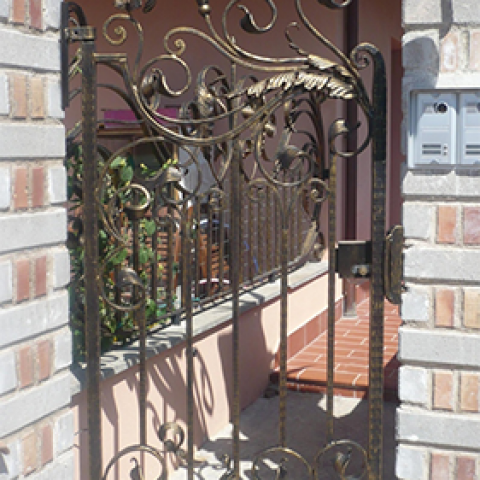 Cancello pedonale in ferro battuto CP 03