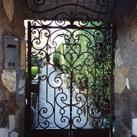 Cancello pedonale in ferro battuto CP 07