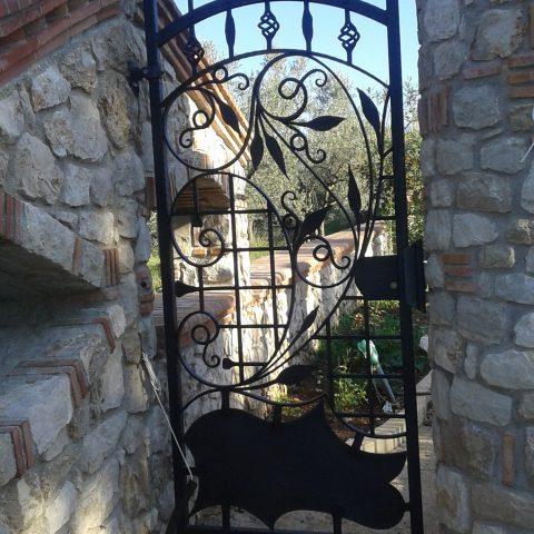 Cancello pedonale in ferro battuto CP 12