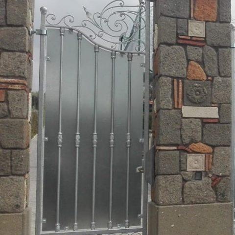 Cancello pedonale in ferro battuto CP 15