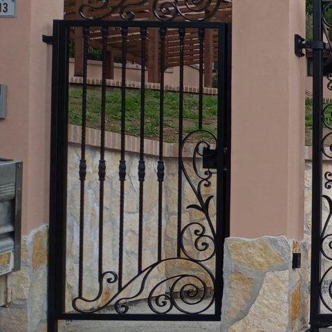 Cancello pedonale in ferro battuto CP 27