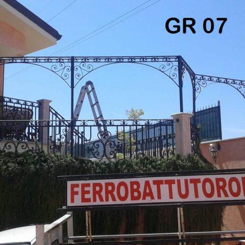 Grillage in ferro battuto GR 07