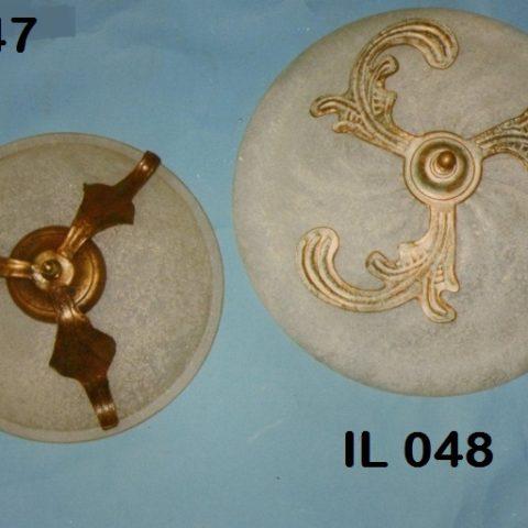 Plafoniera in ferro battuto IL 047 – IL 048