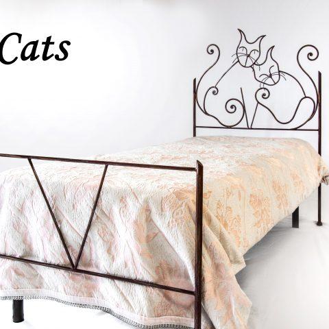 Letto singolo in ferro battuto LFS CATS