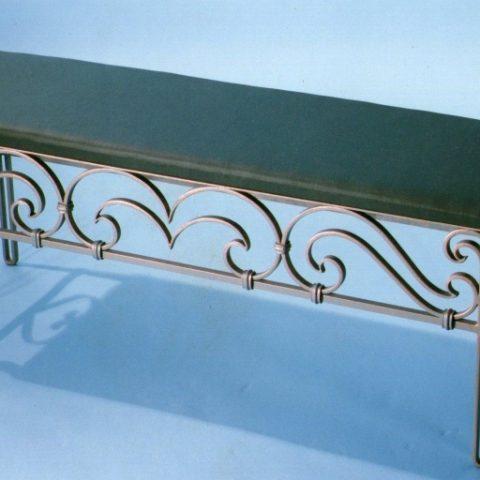 Panchina fondo letto in ferro battuto PF 001