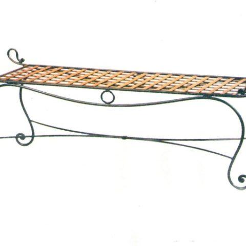 Panchina fondo letto in ferro battuto PF 003