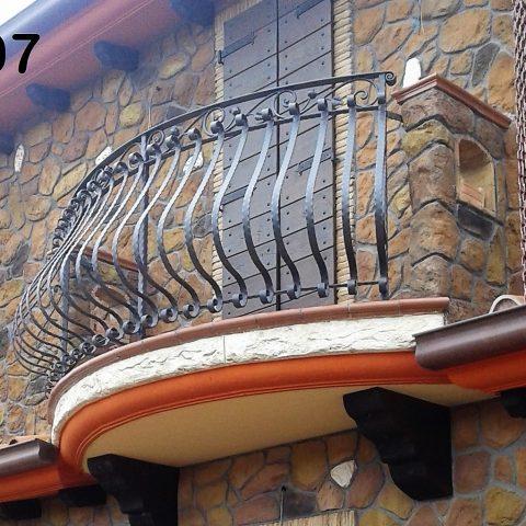 Ringhiera per balconi in ferro battuto RB 07