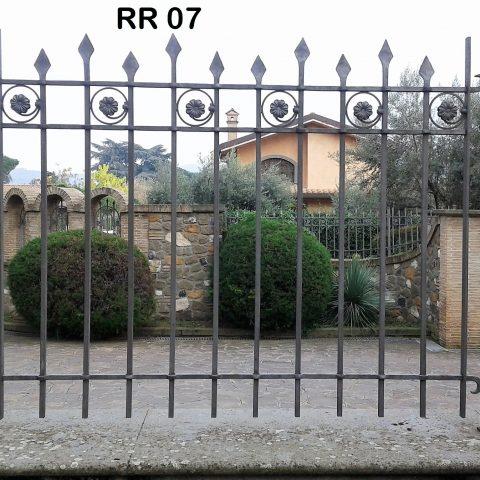 Ringhiera per recinto in ferro battuto RR 07