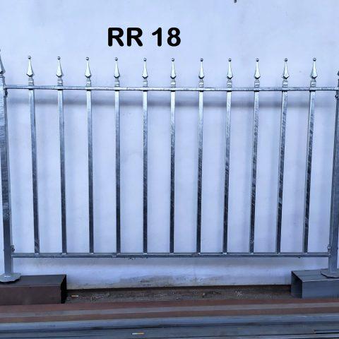 Ringhiera per recinto in ferro battuto RR 18
