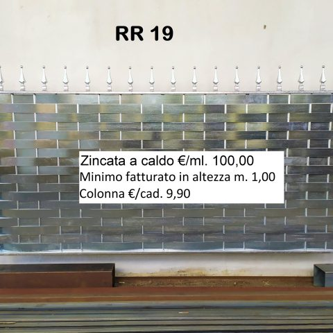 Ringhiera per recinto in ferro battuto RR 19